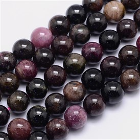 Natural Tourmaline Round Bead Strands