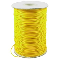 Yellow Korean Waxed Polyester Cord, Bead Cord, Yellow, 0.8mm; about 185yards/roll