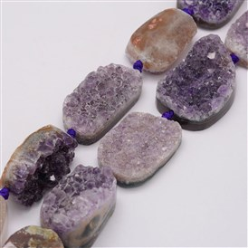 Natural Amethyst Bead Strands, Nuggets