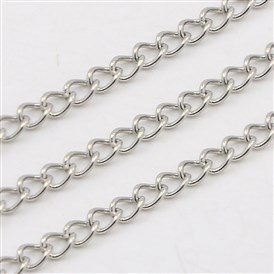 304 Stainless Steel Twisted Chains, Curb Chains, Soldered