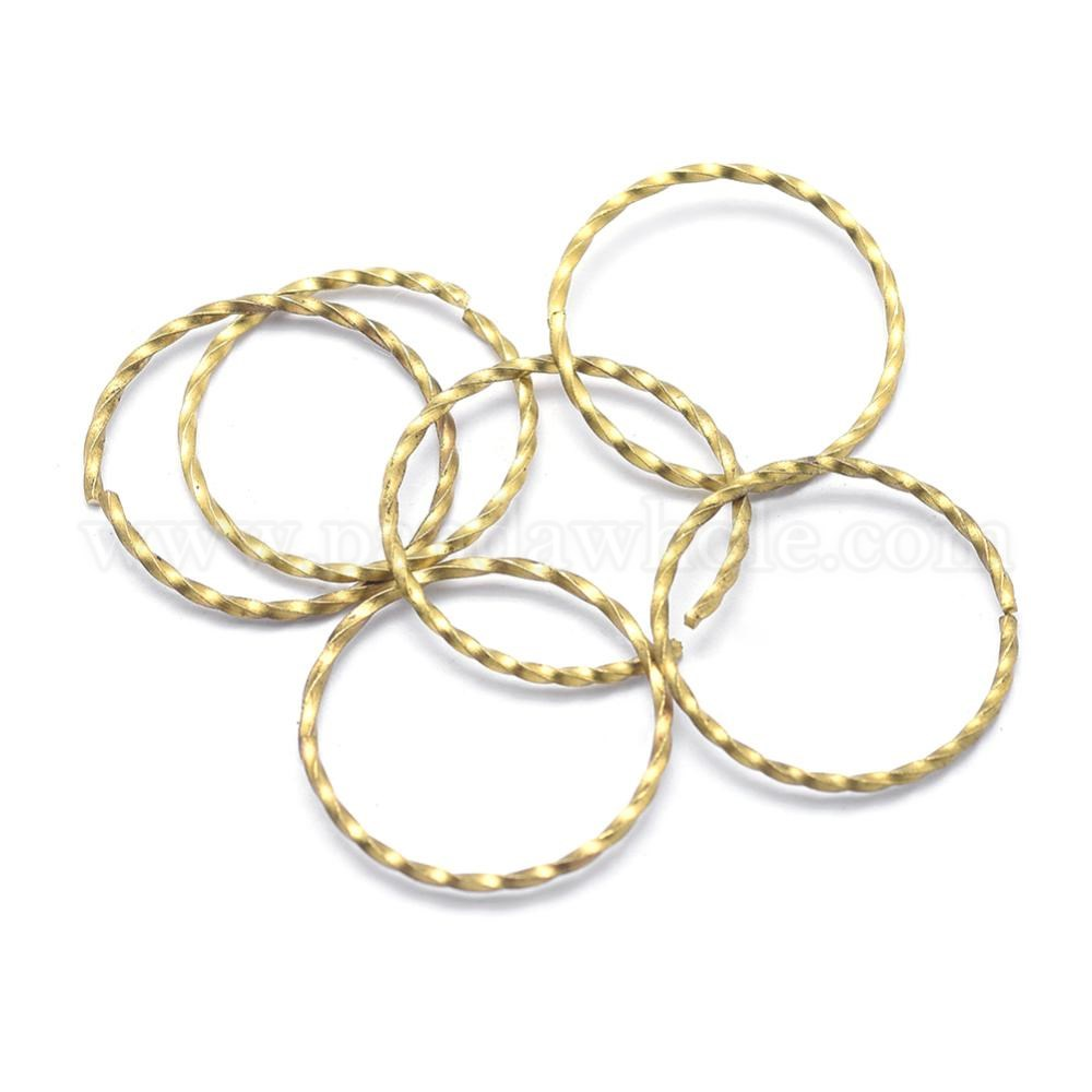 Wholesale Brass Linking Rings Twisted Ring Lead Free