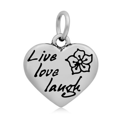 316 Stainless Steel Enamel Pendants, Heart with Word, 16.5x17x4mm, Hole: 5mm-1