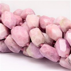 Kunzite Natural Kunzite Beads Strands, Faceted, Nuggets, 18~28x14~20mm, Hole: 1mm; about 16pcs/strand, 15.7""