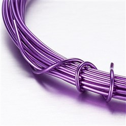 Purple Aluminum Wire, Purple, 2mm, about 5m/roll
