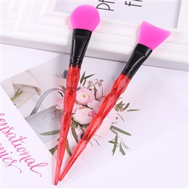 Silicone Makeup Mask Brush, Facial Eyeshadow Brush, Paillette Handle and Silicone Head