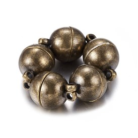 Brass Magnetic Clasps, Round