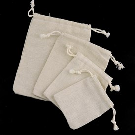 Cotton Packing Pouches Drawstring Bags