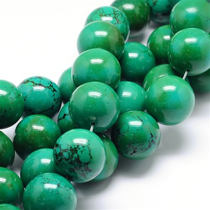 Natural Sinkiang Turquoise Round Bead Strands-1
