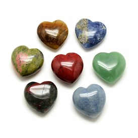 Natural Gemstone Display Decorations, Heart
