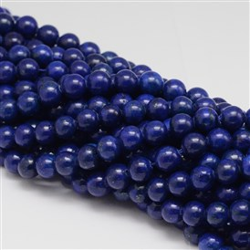 Dyed Round Natural Lapis Lazuli Beads Strands