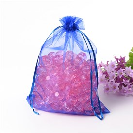 Rectangle Jewelry Packing Drawable Pouches, Organza Gift Bags, Wedding Favour Bags, 17x23cm