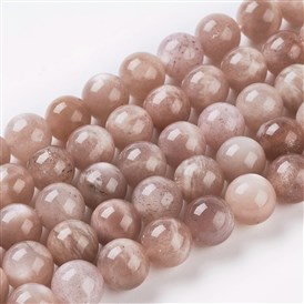 Natural Sunstone Beads Strands, Round