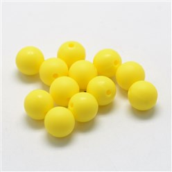 Yellow Food Grade Environmental Silicone Beads, Chewing Beads For Teethers, DIY Nursing Necklaces Making, Bowknot, Yellow, 21x29x10.5mm, Hole: 2mm
