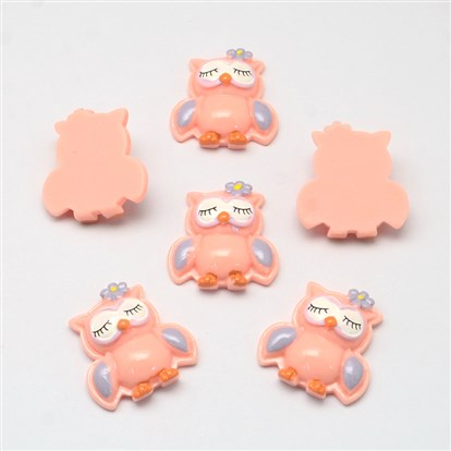Resin Cabochons, Owl-1