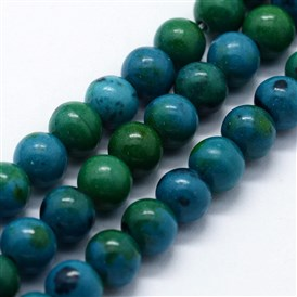 Synthetic Chrysocolla Beads Strands, Round