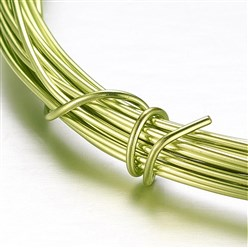 YellowGreen Aluminum Wire, YellowGreen, 2mm, about 5m/roll