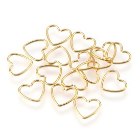 304 Stainless Steel Open Jump Rings, Heart