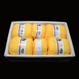 High Quality Baby Knitting Yarns, with Wool, Antistatic Fibre and Velvet, 2mm; about 100g/roll: 4rolls; 50g/roll: 2rolls, 6rolls/box