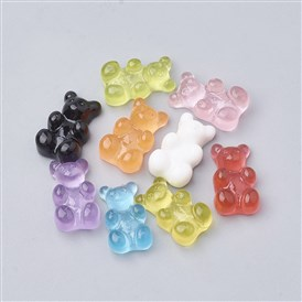 Bear Resin Cabochons, for Photo Pendant Craft Jewelry Making
