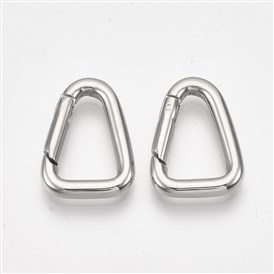 304 Stainless Steel Spring Gate Rings, Triangle