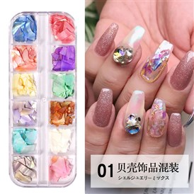 Shell Slices, Manicure Nail Art Decoration Accessories