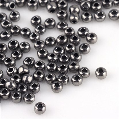 FGB&reg Electroplated Glass Seed Beads, Grade A, Iris Round, 2x1.5mm, Hole: 0.3mm