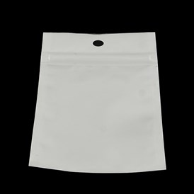 Pearl Film Plastic Zip Lock Bags, Resealable Packaging Bags, with Hang Hole, Top Seal, Rectangle
