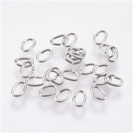 304 Stainless Steel Open Jump Rings, Oval