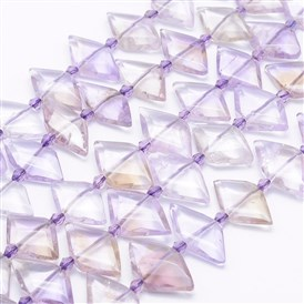 Natural Ametrine Beads Strands, Faceted Rhombus