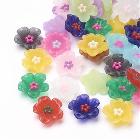 Resin Rhinestone Cabochons, Flower