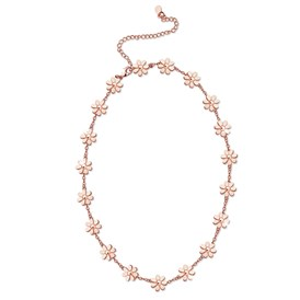 SHEGRACE&reg Brass Link Necklaces, with Cable Chains, Daisy