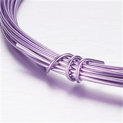 MediumPurple Aluminum Wire, MediumPurple, 2mm, about 5m/roll