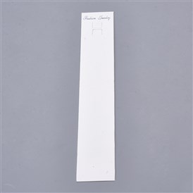 Paper Display Cards, Used For Necklaces, Rectangle