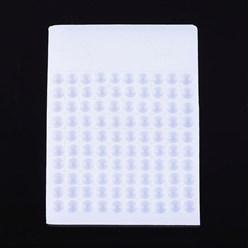 White Plastic Bead Counter Boards, White, 8mm, 9.5x13x0.6cm