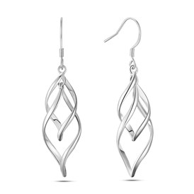 SHEGRACE&reg Brass Dangle Earrings, with 925 Sterling Silver Pins, Leaf