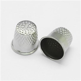 Finger Thimbles Metal Shield Sewing Grip Protector, 17x18mm, Hole: 17mm