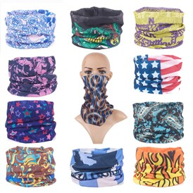 Polyester Magic Headbands, Bandana Scarf, Neck Gaiter, UV Resistence Seamless Headwear, for Outdoor Workout Running