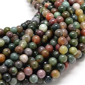 Natural Indian Agate Bead Strands