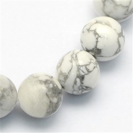Natural Howlite Round Beads Strands