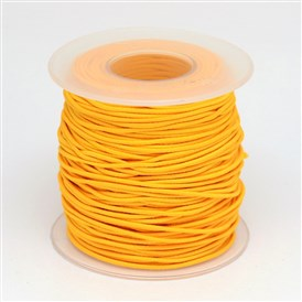 Round Elastic Cord Wrapped by Nylon Thread, 1mm; about 40m/roll