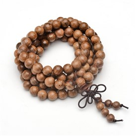 5-Loop Wrap Style Buddhist Jewelry, Wood Mala Bead Bracelets/Necklaces, Round