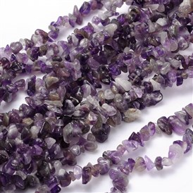 Natural Amethyst Chips, Purple, 5~9x5~9mm