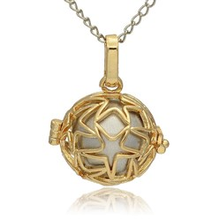 Silver Golden Tone Brass Hollow Round Cage Mexican Ball Pendants, with No Hole Spray Painted Brass Ball Beads, Silver, 23x24x18mm, Hole: 3x8mm